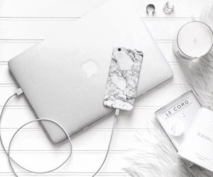 white, apple, and iphone image
