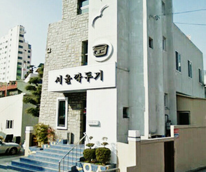 city, house, and korean image