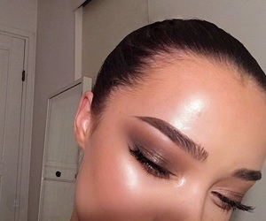 eye makeup, eyebrows, and makeup image