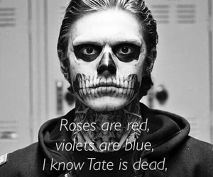 black and white, evan peters, and ahs image