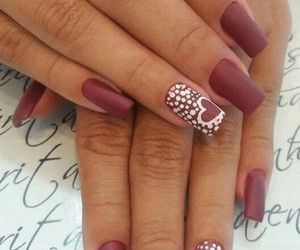 nails, unhas, and nails love image