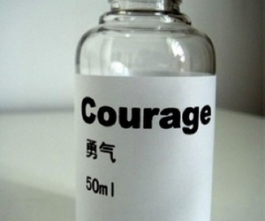 courage and bottle image