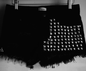 black and white, fashion, and rivets image