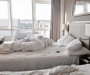 bed, bedroom, and interior image