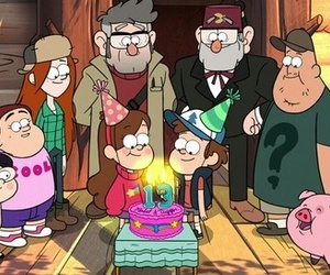 gravity falls, birthday, and candy image