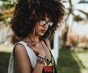 curls, curly hair, and kinky curly hair image