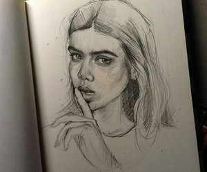 art, beauty, and sketch image