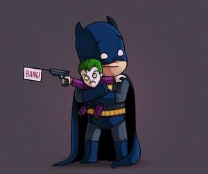 batman, joker, and cute image