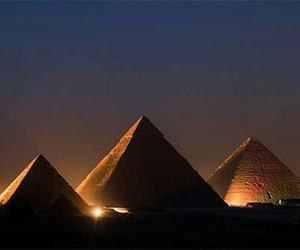 egypt and night image