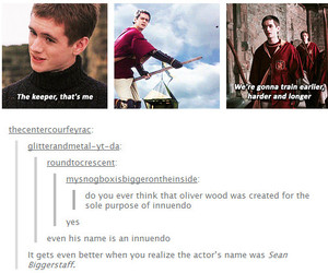 oliver wood, funny, and harry potter image