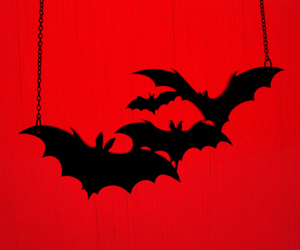 bats, black and white, and dark image