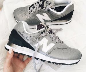 shoes, grey, and new balance image