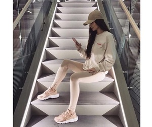 beige, cap, and fashion image