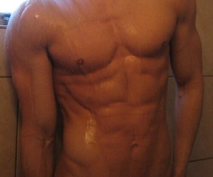 Hottie, six pack, and muscels image