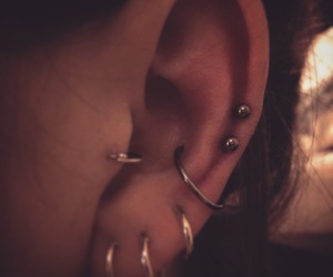 ears, hoops, and Piercings image