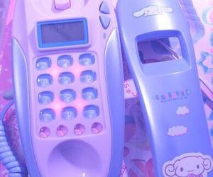 pink, phone, and kawaii image