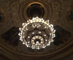 aesthetic, chandelier, and dark image