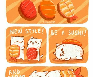 anime, food, and illustration image