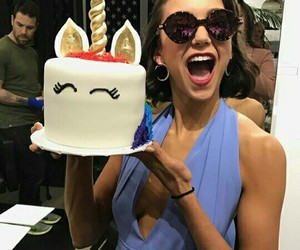 Nina Dobrev, tvd, and cake image