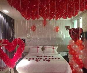 romantic, balloons, and love image