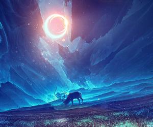 deer, art, and fantasy image