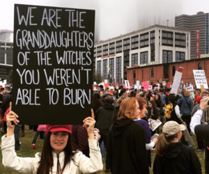 feminism, feminist, and women's march image