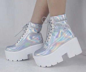 shoes, holographic, and tumblr image