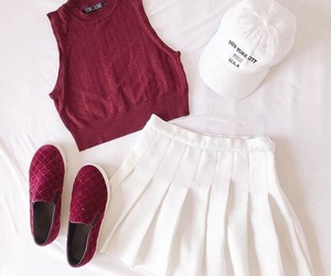 cap, fashion, and maroon image