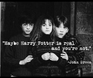 harry potter, john green, and quotes image