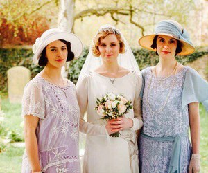 downton abbey, michelle dockery, and jessica brown findlay image