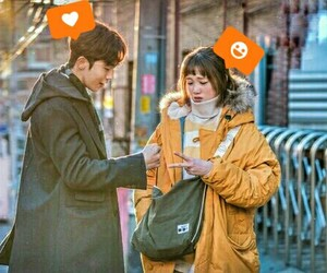 cute couple, lee sung kyung, and weightlifting fairy image