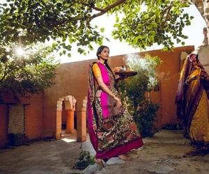 costume, saree, and churidar image