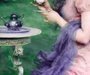 art, tea, and paint image