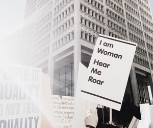 woman, feminism, and women's march image