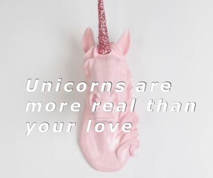 unicorn, pink, and love image