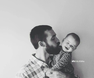 baby, dad, and cute image