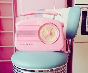pastel, radio, and retro image