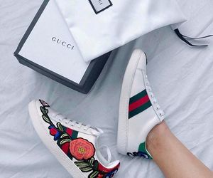 gucci, white, and shoes image