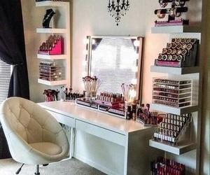 makeup, room, and beauty image