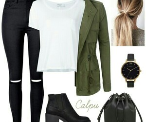 black, clothing, and fashion image