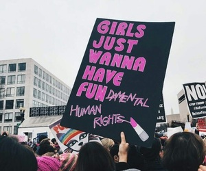 women's march, feminism, and girls image