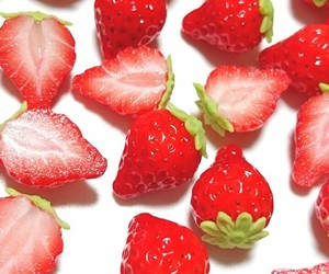 strawberry, delicious, and food image
