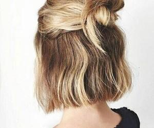 black, blonde, and short image