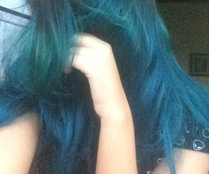 blue, girl, and color hair image