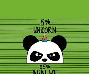 panda, wallpaper, and unicorn image