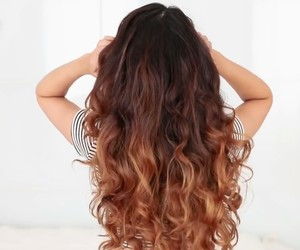 brown, curly, and gorgeous image