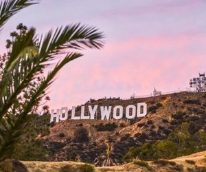 hollywood, los angeles, and sign image