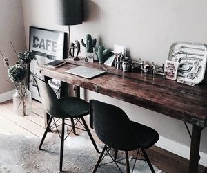 desk, home, and house image