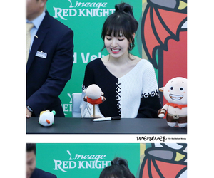 red velvet, wendy, and fansign image