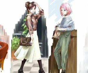 sakura haruno and tenten image